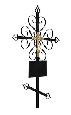 Крест металлический №02