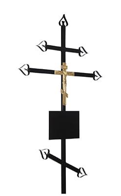 Крест металлический №03