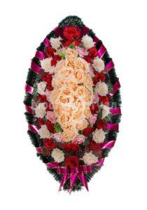 Венок ритуальный на похороны серия «стандартный» №26