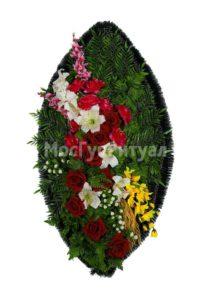 Венок ритуальный на похороны серия «стандартный» №27